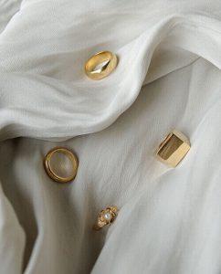 18kゴールドメッキのリング