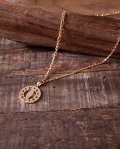 ハンドメイド18kゴールドメッキのネックレス