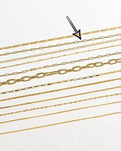 シンプルな18kゴールドメッキのラウンドネックレス