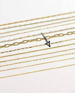 45cmのロープチェーン18kゴールドメッキネックレス平置き