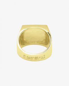 ソバージュと書かれた18kゴールドメッキのリング拡大