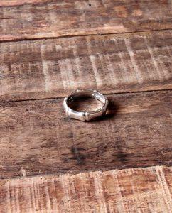 竹の節をイメージしたシルバー925のリング